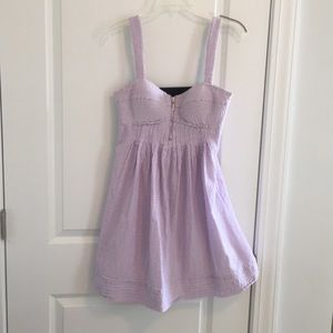 🌴 Jessica Simpson seersucker sz 6 carefree dress